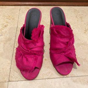 Asos pink mule sandals